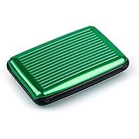 SODIAL ビジネスIDクレジットカードホルダーウォレット アルミメタルケースボックス - ゴールデン