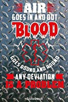 Air goes in and Out Blood goes round and round Any Deviation is a Problem Notebook: First-Responder or Medic Notebook Compact 6 x 9 inches Blood Pressure Log 120 Cream Paper (Diary, Notebook, Composition Book, Writing Tablet)