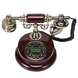 アンティーク電話機 ヨーロッパ風 装飾電話機 プッシュ式 骨董品 電池不要 クラシック レトロ調 MGC JAPAN TRADE