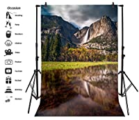 leyiyi 5x 7ft写真背景背景滝ヨセミテ国立公園アメリカ旅行California Landmark秋ハワイアンハイキングウェディングフォトPortraitビニールビデオStudio Prop