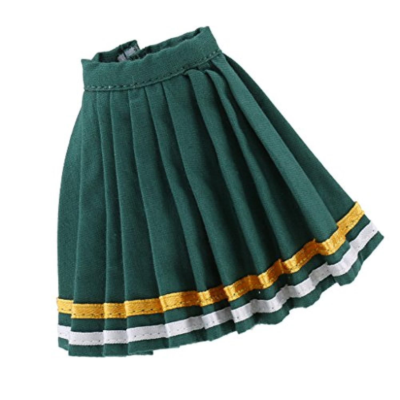 Perfk トレンディ 1/6スケール パーティードレス プリーツスカート 12インチブライス アゾン リカドール用 全2カラー - 緑