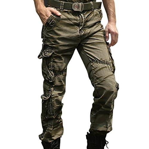 【ARINCO】 ミリタリー 迷彩 パンツ ACU カモフラージュ 戦闘服 サバゲー にも 沼 砂漠 湿地 大きい サイズ (グリーン,38)