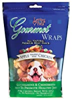 Loving Pets All Natural Premium Apple and Chicken Wraps with Glucosamine and Chondroitin Dog Treats, 6 oz by Loving Pets