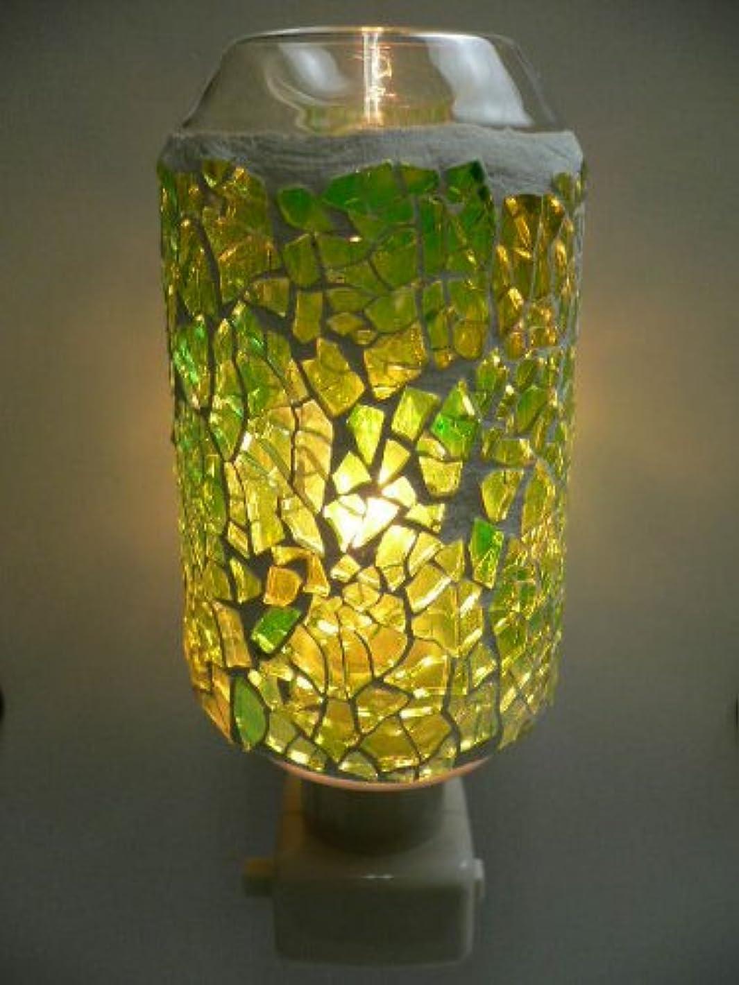 モザイク アロマライト コンセント型 グリーン コンセントライト【アロマランプ】【常夜灯】