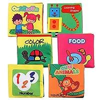 赤ちゃん早期教育6ギフトボックスセット洗えるパズル布の本
