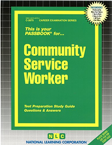 Download Community Service Worker (Career Examination) 0837326753
