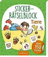 Sticker-Raetselblock Tiere: ueber 150 Sticker