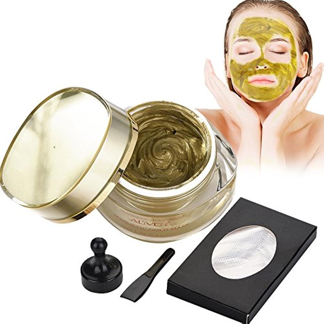 封建花輪ナンセンス磁気ゴールドマスク、フェイシャルスキンケア 自然成分 ミネラルリッチ ディープクレンジングポア 人気があり
