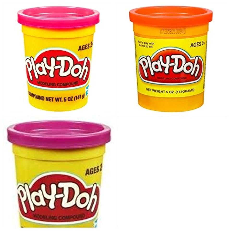 借りている絶えずラビリンスPlay Doh缶のセット3。ピンク、パープル、オレンジ