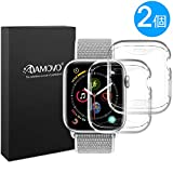 AMOVO Apple Watch Series4 ケース 44mm TPU 保護ケース 耐衝撃性 超簿 脱着簡単 Apple Watch シリーズ4 (44mm, 2個入り)