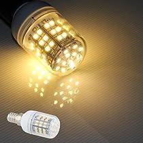 Ecloud Shop E14 5Wコーンウォームホワイト3528 SMD 60 LED電球スポットライトスポットライトランプAC 220V