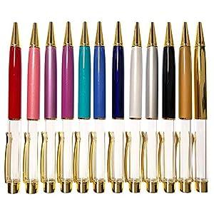 AseiwaA ハーバリウム ボールペン 手作り キットセット 本体のみ ペン (12本セット)