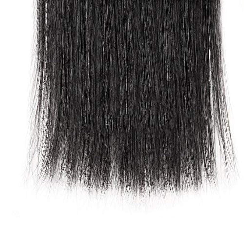 タイヤ決してブラザーWASAIO スタイルの交換のためのサプリメントブラジルの曲げられていない人間の髪の束8Aシルキー織りエクステンションナチュラルブラック(8