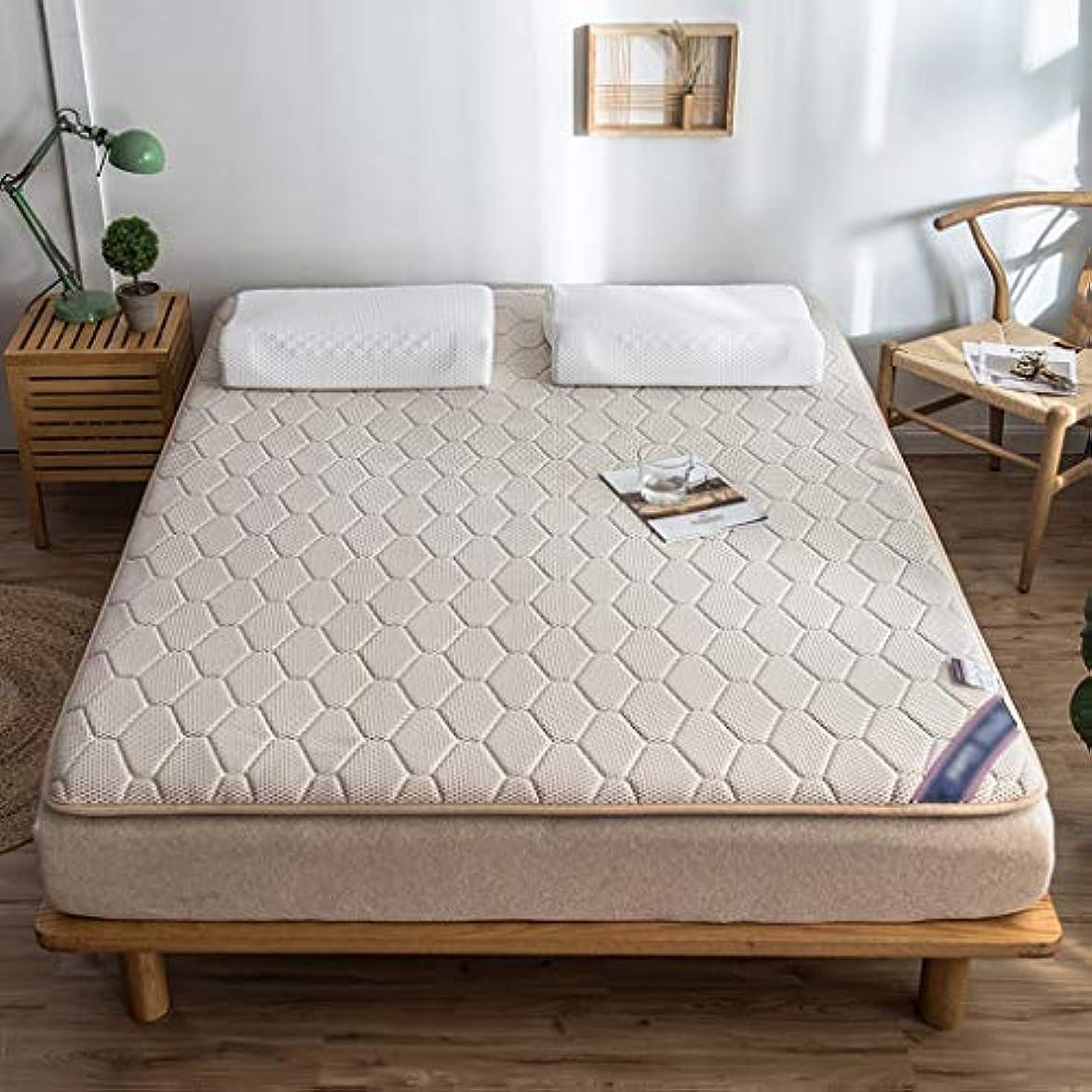 予報アイザックアミューズマットレストッパーパッド天然ラテックスパッド畳ベッドカバー保護パッドフロアマット家庭用クッション (色 : Khaki, サイズさいず : 90×200cm)