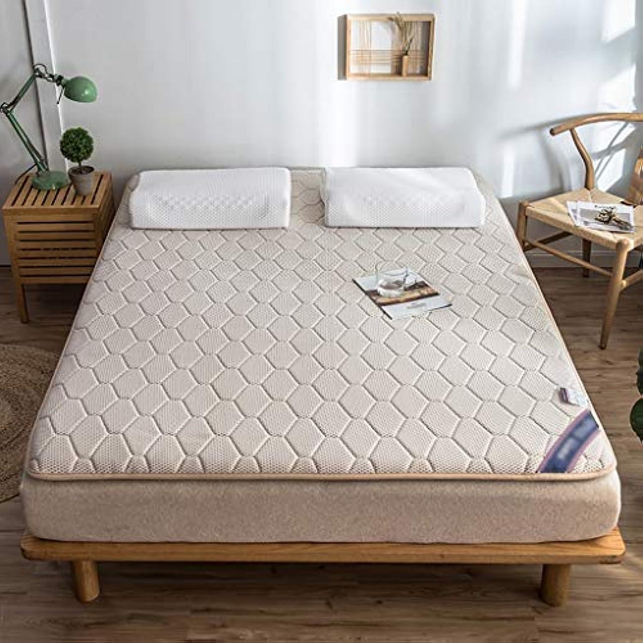 できた方法論びんマットレストッパーパッド天然ラテックスパッド畳ベッドカバー保護パッドフロアマット家庭用クッション (色 : Khaki, サイズさいず : 90×200cm)