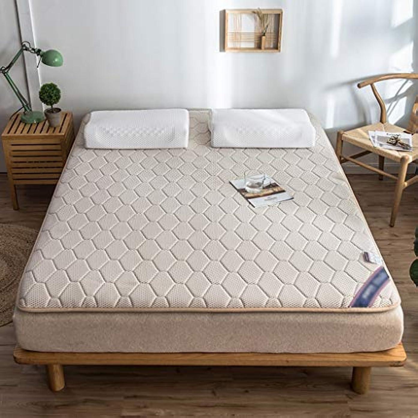 レコーダー受け入れた鮮やかなマットレストッパーパッド天然ラテックスパッド畳ベッドカバー保護パッドフロアマット家庭用クッション (色 : Khaki, サイズさいず : 90×200cm)