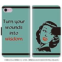 スマホ スマートフォン 手帳 スマホケース Pretty Ladyシリーズ 【573_グリーン|KATANA02 FTJ152F】