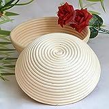 籐製醗酵カゴ 丸型 天然籐 パン作りの小道具 Zyurong バヌトン カンパーニュ作り 裏地なし 洗える 4サイズ 1個セット