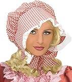 Womens Checkered Prairieスタイルボンネット One Size レッド 62051