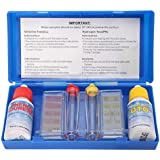 Warreal PH Chlorine Water Quality Test Set,Hydrotool Testing,Swimming,Pool,Water,1 Set PH Chlorine Water Quality Test Kit Hydrotool Testing Kit Accessories for Swimming Pool