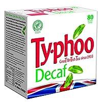 Typhoo 80 Decaf Tea Teabags (Pack of 6, Total 480 Teabags)