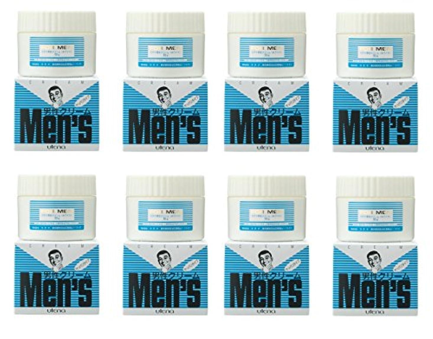 厚さ慢からかう【まとめ買い】ウテナ 男性クリーム さっぱり (ホワイト) 60g×8個