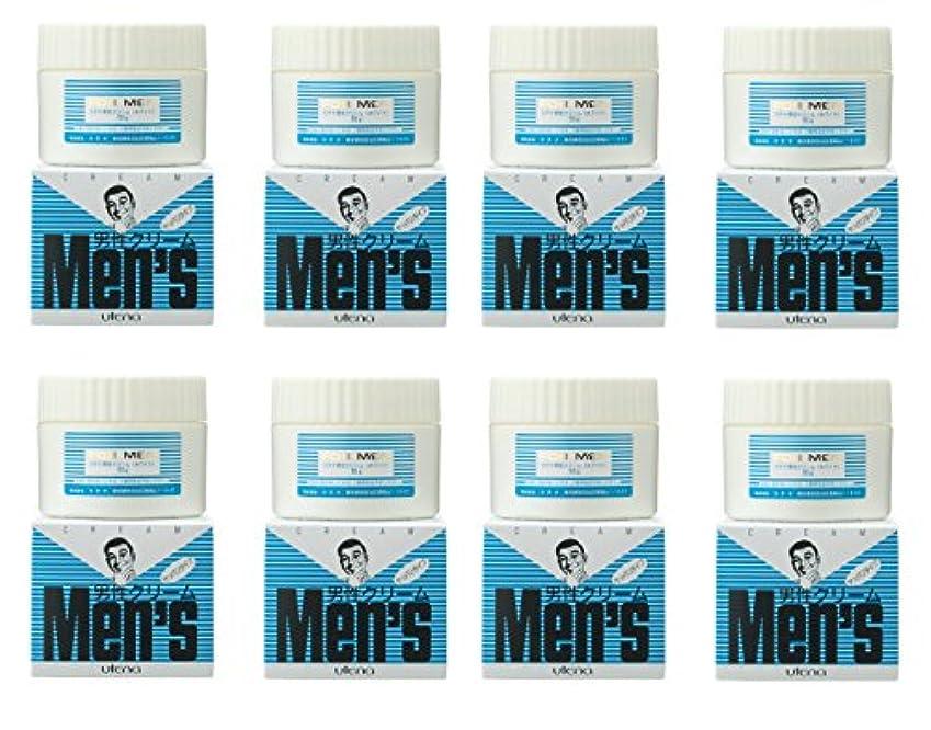 端ストライプ製作【まとめ買い】ウテナ 男性クリーム さっぱり (ホワイト) 60g×8個