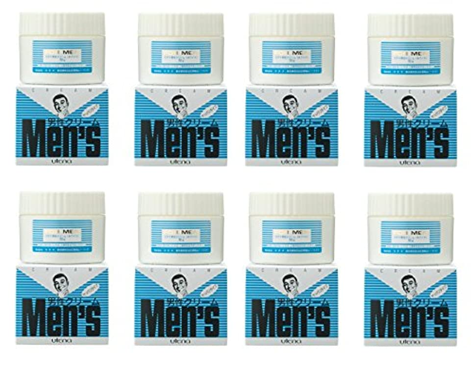 見物人左スライム【まとめ買い】ウテナ 男性クリーム さっぱり (ホワイト) 60g×8個