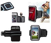 DFV mobile - バックルが付いているスポーツの周りプロフェッショナルカバーネオプレン防水ラップを腕章 => SHARP AQUOS PHONE ZETA SH-06E > 黒