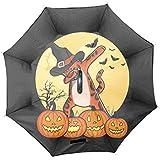 Halloween Pumpkin Cat逆さ傘 自立傘 長傘 車用傘 反転傘 さかさま傘 逆折り式傘 逆転傘 UVカット 晴雨兼用 手離れC型手元 耐風傘 撥水加工 ビジネス用車用 紫外線遮蔽率99% 遮光遮熱 傘ケース付き