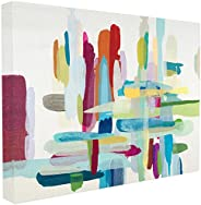 The Stupell Home Décor Collection Colorful Cross Hatch Abstraction Canvas Wall Art, 30 x 40 Inches