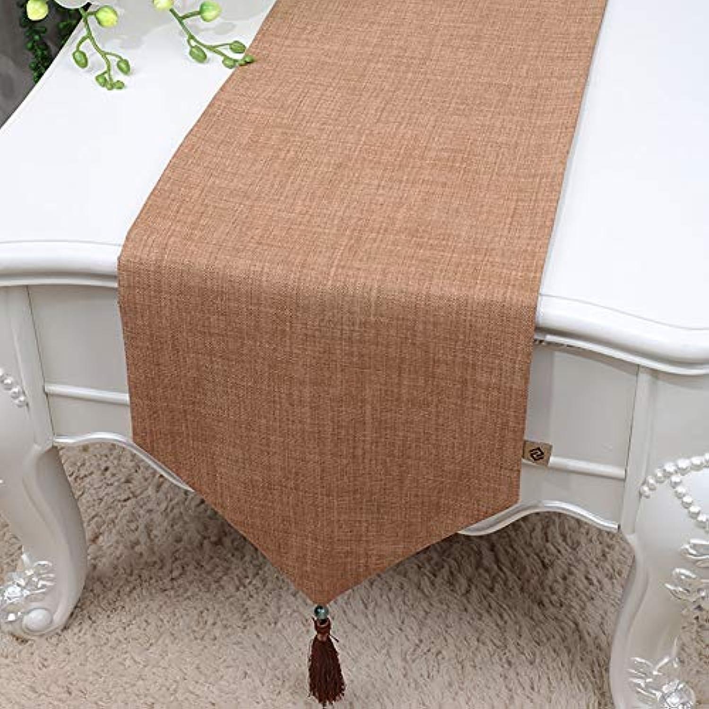 テーブルランナー ホームデコレーション 北欧 シンプル モダン おしゃれ 長方形 エレガント お茶会 (Color : Orange, Size : 33x300cm)