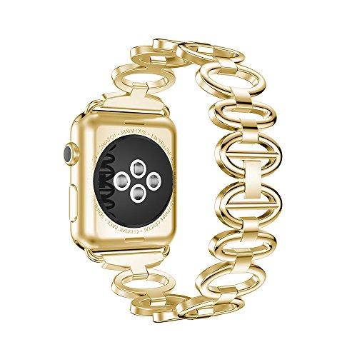 [해외]NotoCity Apple Watch 스테인레스 밴드 애플 시계 밴드 대응 Apple Watch Series 3|2|1/NotoCity Apple Watch stainless steel band~ Apple Watchband compatible Apple Watch Series 3|2|1