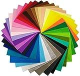 36枚 サイズが選べる カット フェルト 生地 36色 セット 1.5mm厚さ 不織布 パッチワーク クラフトフェルトマットⅮIY用 (30cm x 30cm)
