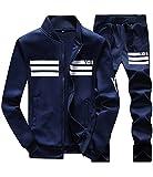 (フロラン)Froyland スウェット 上下セット メンズ スエット 上下 パーカー ジャージ パンツスポーツ トレーニングウェア ネイビー XL