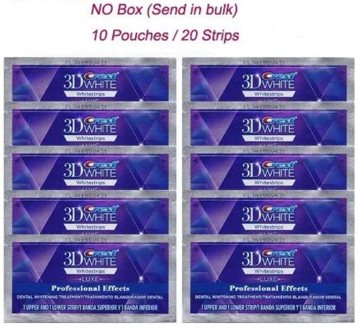 包括的履歴書首10Pack 3D Whitestrip Teeth Whitening 10回分歯 ホワイトニングテープ 10Pack (No Box)
