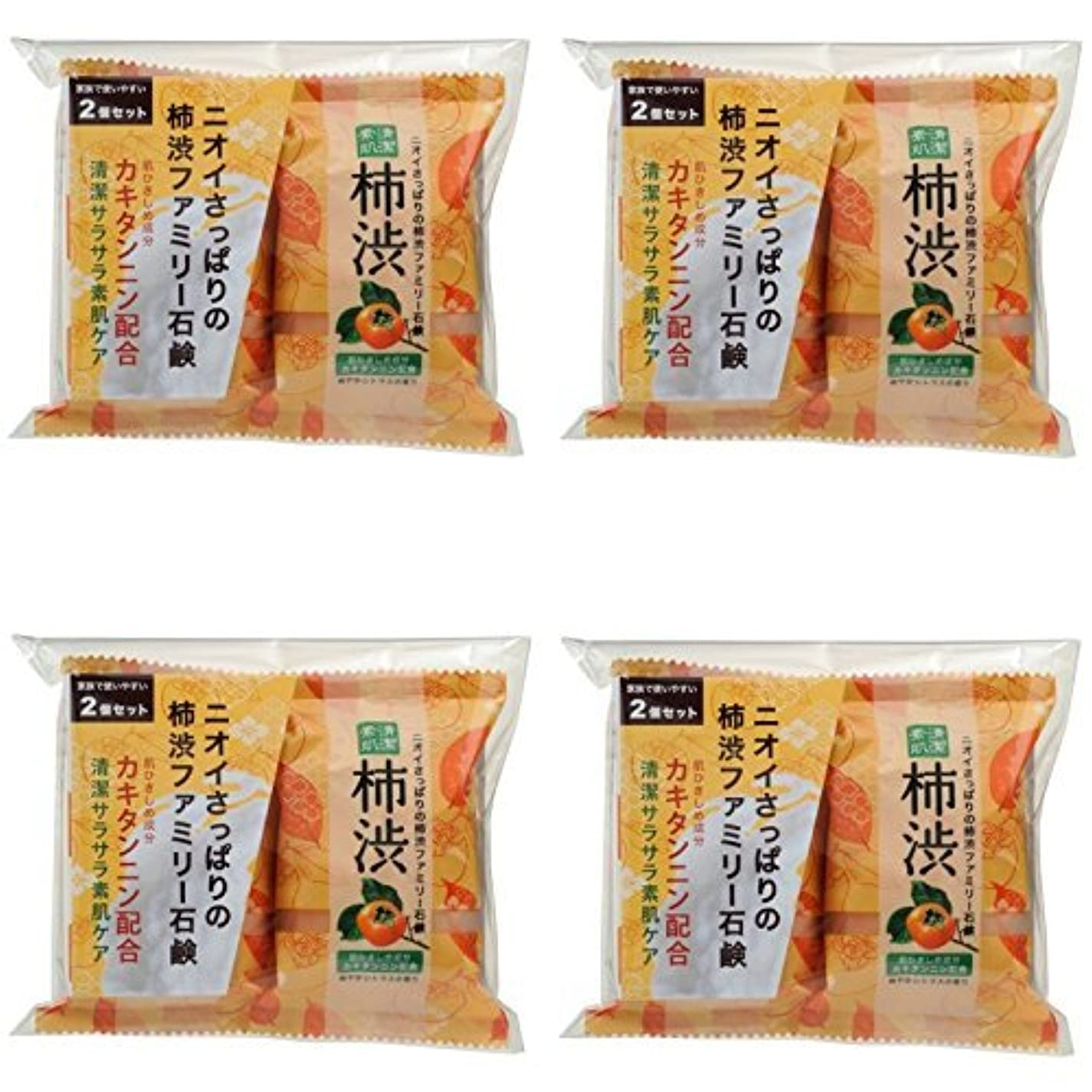 理解請うアクティビティ【まとめ買い】ファミリー柿渋石けん2コパック【×4袋】