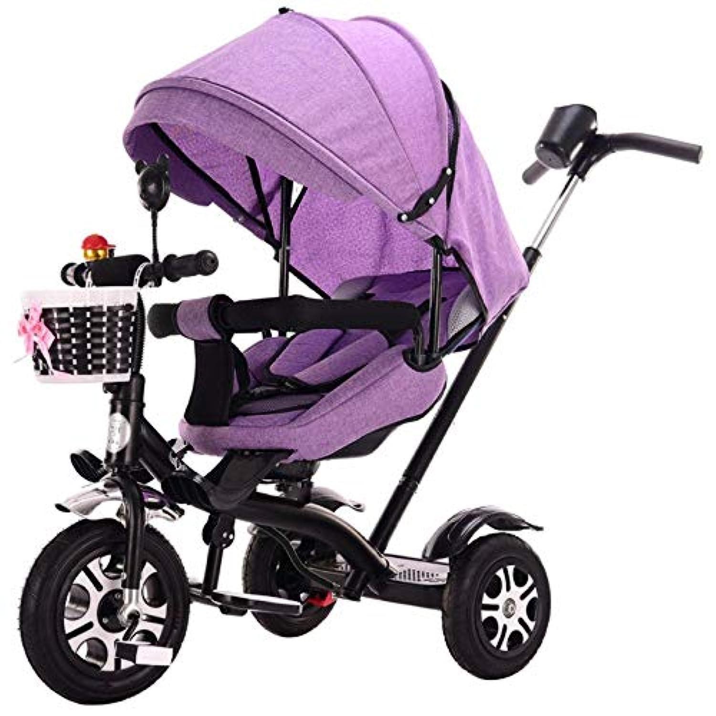 子供の三輪車 子供のペダルの三輪車1-2-3-5-6歳は日除けの音楽カートとうそをつくことができます 三輪車 おりたたみ 持ち運び (色 : C)