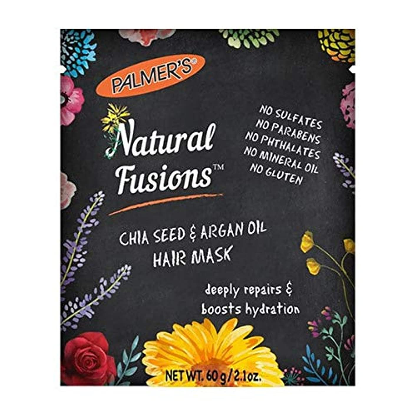 南西ご意見インフラ[Palmer's ] パーマーの自然な融合チアシード&アルガンオイルヘアマスク60グラム - Palmer's Natural Fusions Chia Seed & Argan Oil Hair Mask 60g [...