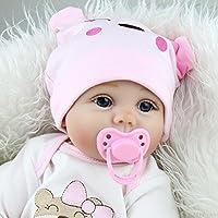 JOJASHOP 22インチ Reborn リアルなベビードール 新生児 シリコンビニール人形  ギフト ハンドメイド