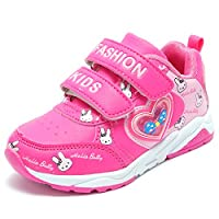 UBELLA 女の子 スニーカー キッズ 可愛い兎 ランニング 子供靴 カジュアル 通学 学生 歩きやすい