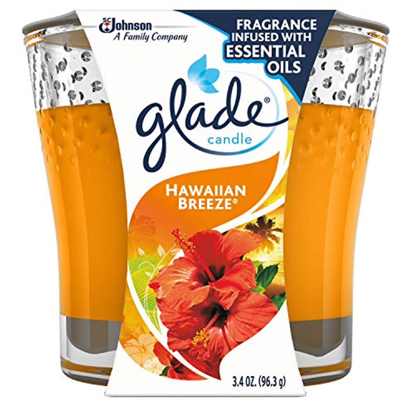今後間違っている行政Glade Jar Candle Air Freshener, Hawaiian Breeze, 3.4 Ounce by Glade