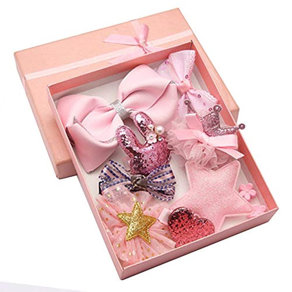 ありがたい進捗後ろにLazayyii 子供用ヘアアクセサリー赤ちゃん誕生日ギフト (ピンク)