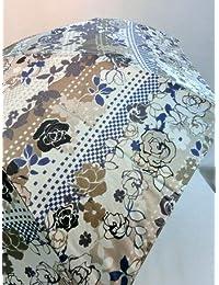 ノーブランド品 折畳傘 婦人 ナイロンサテンバラボーダー柄ビッグサイズ折り畳み雨傘