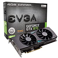 EVGA GeForce GTX 970 SSC ACX 2.0+ 4GB GDDR5 256bit, DVI-I, DVI-D, HDMI, DP SLI Ready Graphics Card 04G-P4-3975-KR 並行輸入