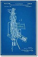 AR 15Assault Rifle Patent–新しい有名な発明青写真ポスター