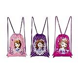 Disney (ディズニー) ちいさなプリンセス ソフィア ナップサック ナイロン巾着バッグ 3パックセット 【並行輸入品】