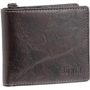 [エドウィン] 二つ折財布 レトロ合皮 12239720 BROWN