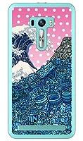 SECOND SKIN ネオ浮世絵 (クリア) design by 326 / for ZenFone Selfie ZD551KL/MVNOスマホ(SIMフリー端末)  MASSEL-PCCL-326-Y739