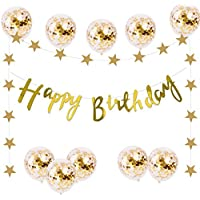 バースデー 飾り付け ガーランド 風船 誕生日 デコレーション セット おしゃれ ガーランド きらきら 風船 10個 ゴールド